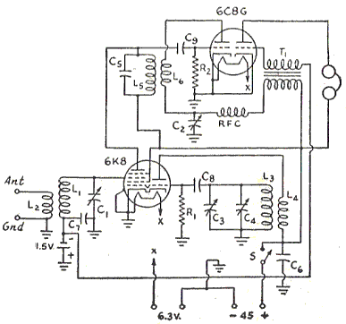 Vintage Am Antenna Wiring Diagram additionally Children anti lost reminder circuit further Goodman receiver further Low Range Am Radio Transmitter Circuit also RF 20 lifier. on receiver circuit diagram