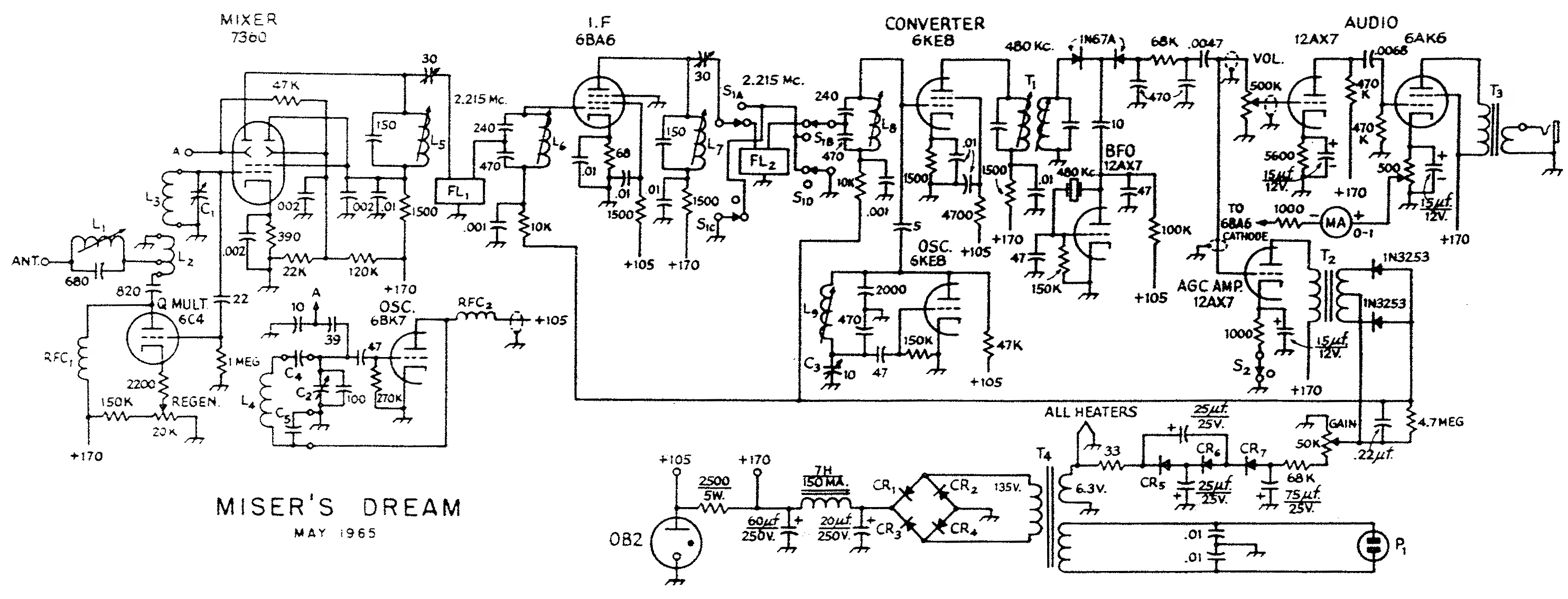 David Newkirk Writings Poems Poetry Enjoying Radio The Full Click For Schematic Diagram Of Byron Goodmans Misers Dream Receiver